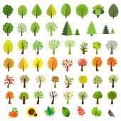 Big Set Trees — Stock Vector