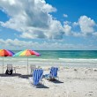 Beach Chairs with Umbrella — Stock Photo #59327469