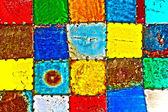 Painted Metal Squares — Stock Photo