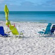 Beach Chairs with Umbrella — Stock Photo #73878729