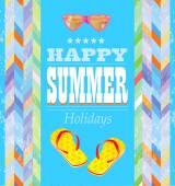 Summer holidays design. — Stock Vector