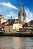 Cidade antiga de Regensburg — Fotografia Stock