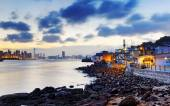 Sunset in Hong Kong fishing valley — Stock Photo