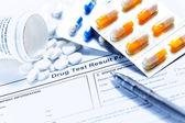 药物测试空白窗体 — 图库照片