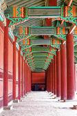 Hallway in the korean palace — Stock Photo