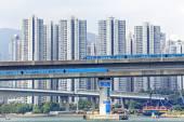 High speed train on bridge — Stock fotografie