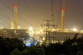Power station at night — Stock Photo