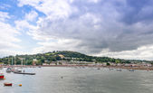 Teignmouth Estuary looking towards Shaldon — Stock Photo