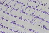 немецкая рукопись, 1920-е - деталь — Стоковое фото