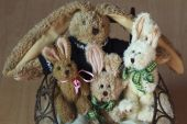 Easter Bunnies Family — Stock Photo