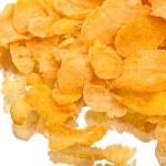 Crispy corn flakes on white — Stock Photo #59378821