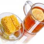 Tea with lemon and honey — Stock Photo #67079171