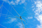 Wire rotating directional antenna — Stock Photo