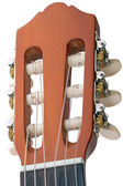 Tuning peg six-string guitar — Stock Photo