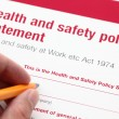 Постер, плакат: Health and safety policy statement
