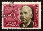 "USSR postage stamp ""Ernest Rutherford"" — Stock Photo"