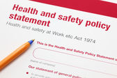 Health and safety policy statement — Stock Photo