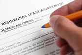 Residential lease agreement — Stock Photo