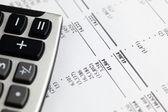 Analyzing financial statement — Stock Photo