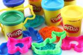 Play-Doh modeling compound with molds — Stock Photo