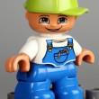 Lego Duplo boy figure with green cap — Stock Photo #61933869