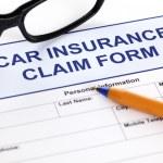 Car insurance claim form — Stock Photo #61935643