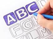 I draw ABC — Foto Stock