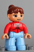 Lego Duplo girl figure — Stock Photo