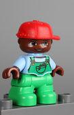 Lego Duplo African American boy figure — Stock Photo