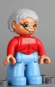 Lego Duplo grandmother figure — Stock Photo