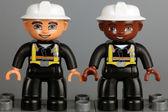Lego Duplo fireman figures — Stock Photo