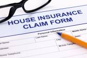 House insurance claim form — Stock Photo