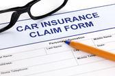 Car insurance claim form — Stock Photo