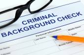 Criminal background check application form — Stock Photo