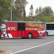 Bus with advertisement of KFC — Stock Photo #62609575