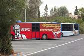 Otobüs reklam Web Kfc — Stok fotoğraf