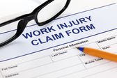 Work Injury Claim Form — Stock Photo