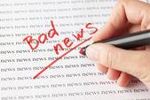 Bad news — Stock Photo