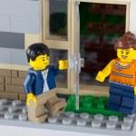 LEGO couple near his home — Stock Photo #62980461