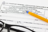 U.S. passport renewal application for eligible individuals — Stock Photo