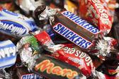 Snickers, Mars, Milky Way, Galaxy, Bounty, Maltesers Teasers — Stock Photo