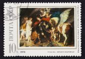 USSR postage stamp Perseus and Andromeda by Rubens — Stock Photo