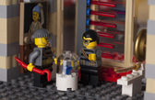 LEGO night museum break-in. — Stock Photo