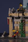 LEGO night museum break-in — Stock Photo