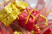 Christmas decoration boxes  — Stock Photo