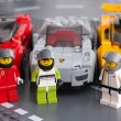 Постер, плакат: Lego drivers minifigures by LEGO Speed Champions with car