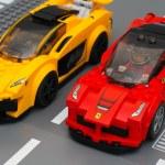 Постер, плакат: Lego LaFerrari and Lego McLaren P1 cars