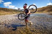 Macera dağ bisikleti yarışması — Stok fotoğraf