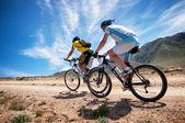 Adventure mountain bike cross-country marathon — Stock Photo