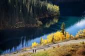 在哈萨克斯坦的 kolsay 湖 — 图库照片